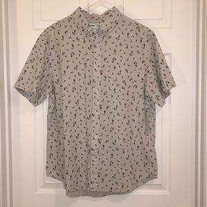 NWT Men's Short Sleeve Button Down